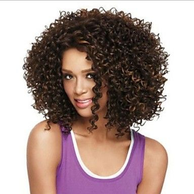 Fashionable Women's Glueless Deep Curly Short Hair Wig for African American – CAD $ 38.91