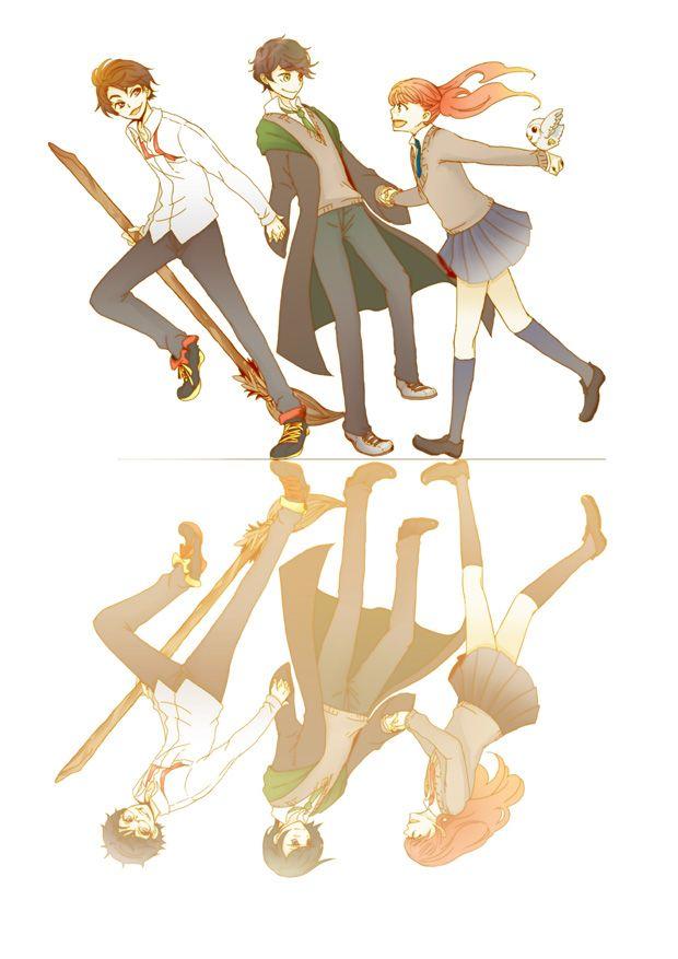 James Sirius, Albus Severus, Lily Luna Potter.