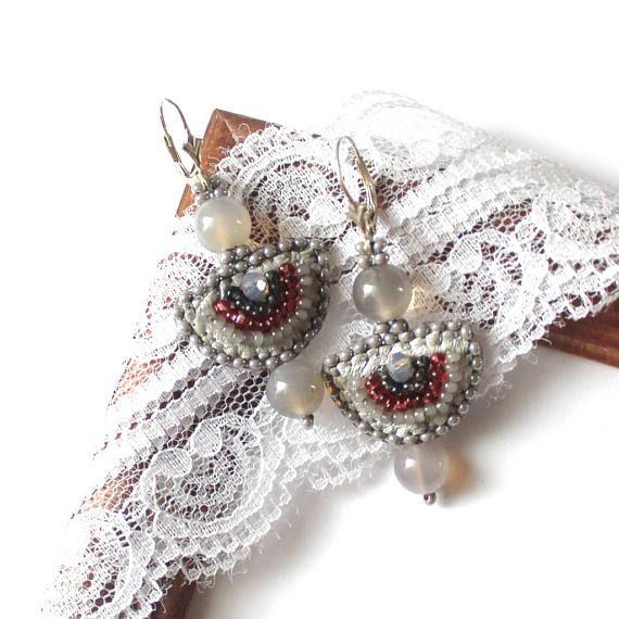 Earrings Early morning Beaded earrings Handmade earrings Beads