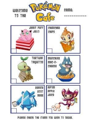 Cute Pokemon Party - has the printable Pokemon link and other cute ideas