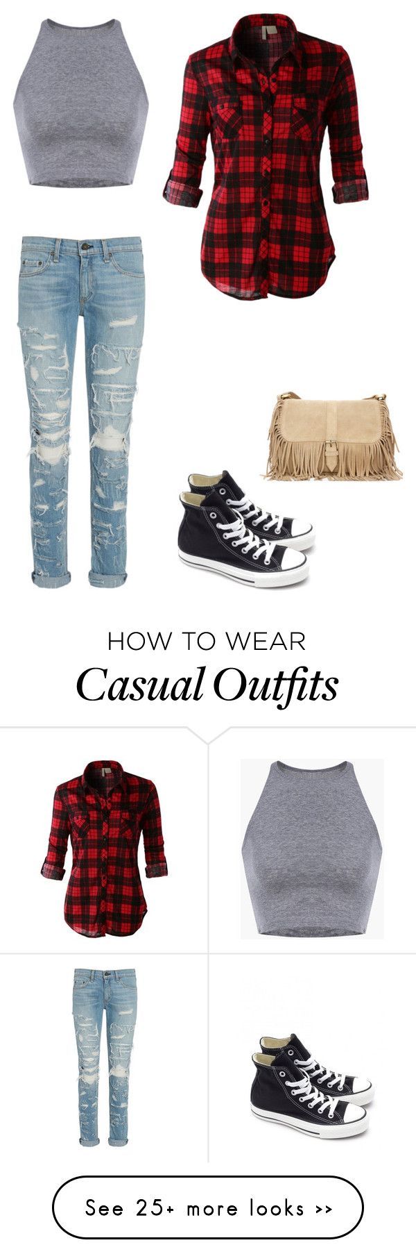 """#Casual"" by mintythemoonturtle on Polyvore featuring rag & bone, LE3NO and Converse"