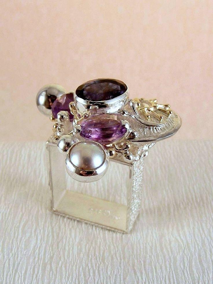 umělecké šperky v Prazě, Gregory Pyra Piro kvadrátový prstýnek 3012