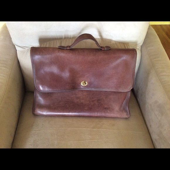 Vintage COACH briefcase Very Mad Men. Perfect condition Coach briefcase, looks brand new. Made with the wonderful Coach leather that looks better as it gets used. Two sections inside, one on the back. Makes a great addition to any wardrobe! Coach Accessories