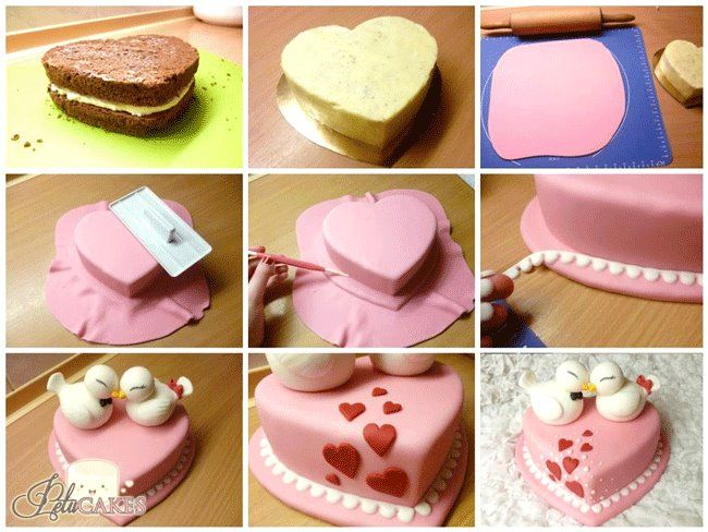 Valentine Cake. This is created by https://www.facebook.com/PetuCakes