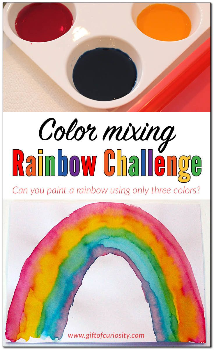 Learning colors art activities for preschool - Color Mixing Rainbow Challenge Activity Gift Of Curiosity