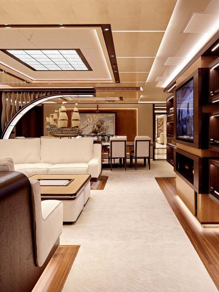 Charming #Moderne Innenräume Beste Moderne Yacht Interior Designs #dekoration #Ideen  #neu #house