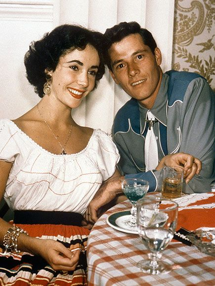 Elizabeth Taylor and abusive alcoholic first husband Conrad Hilton Jr. He beat the crap out of her on the first night of their Honeymoon. She divorced him soon after...