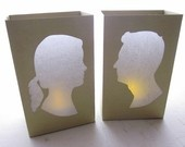 Check out these silhouette luminaries!