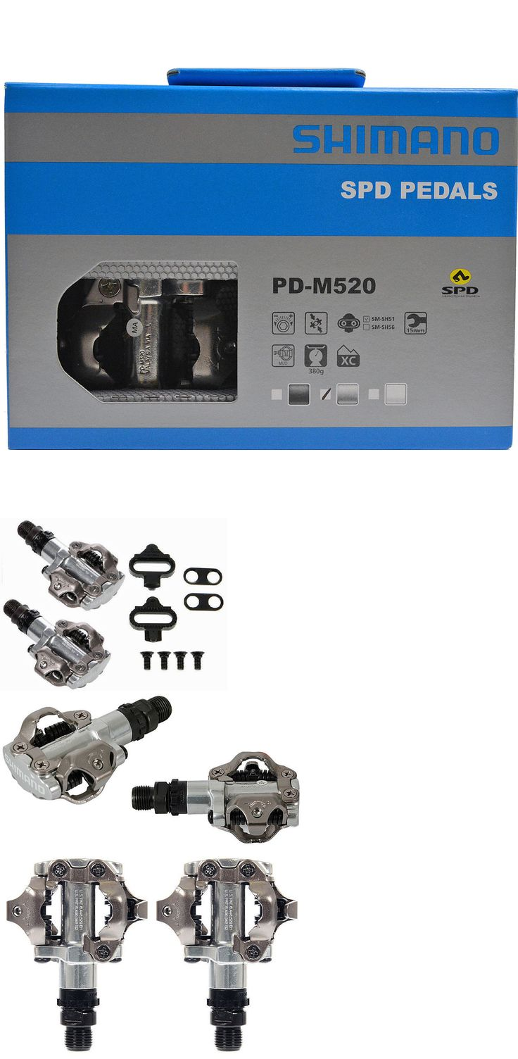Pedals 36137: New 2017 Shimano Mtb Mountain Bike Clipless Pedals W/ Spd Cleats: Pd-M520 Silver BUY IT NOW ONLY: $34.95