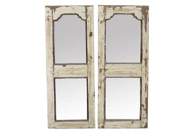 Indo-French Mirrors, Pair