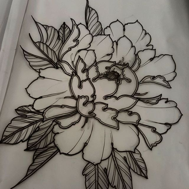 Peony Line Drawing Tattoo : Best tattoos images on pinterest tattoo ideas