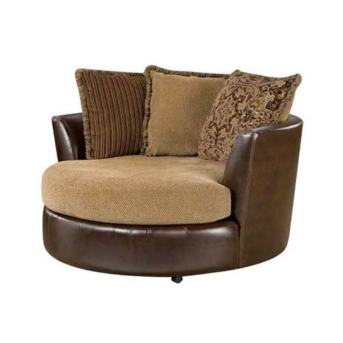 Beautiful Chelsea Home Dakota Upholstered Swivel Chair | From Hayneedle.com