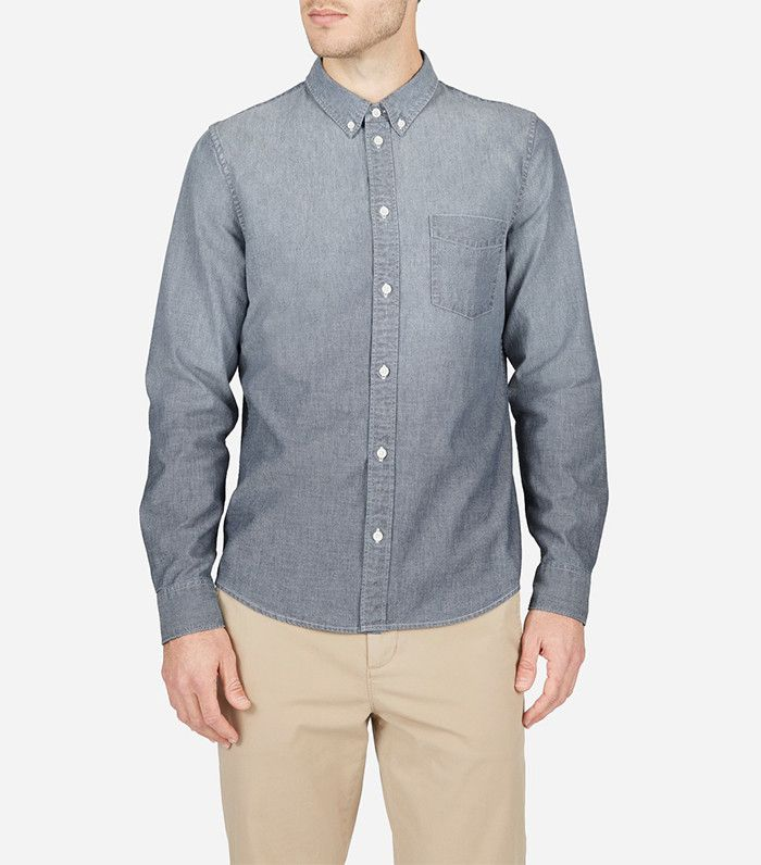 Everlane The Slim Fit Chambray Shirt