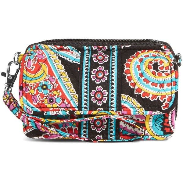 Vera Bradley All in One Crossbody and Wristlet in Parisian Paisley ($38) ❤ liked on Polyvore featuring bags, handbags, shoulder bags, parisian paisley, zipper wristlet, wristlet crossbody, convertible purse, vera bradley handbags and convertible crossbody