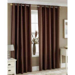 Chocolate brown curtains for Master Bedroom