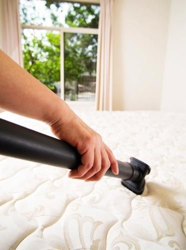 Every couple of months sprinkle a mixture of baking soda and a tablespoon of your favorite fabric softener over your mattress, let it sit for an hour, and then vacuum it up. Gets rid of dust mites and freshens up the mattress. - interiors-designed.com
