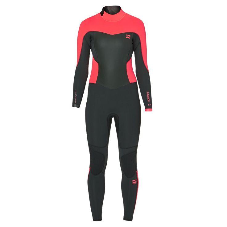 Billabong Wetsuits - Billabong Womens Synergy 5 4mm 2017 Back Zip Wetsuit -  Coral Kiss 0d47a5077f00