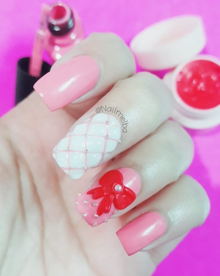Extreme 3d nail artRed 3d gel from @bundlemonster ....#ногти ...