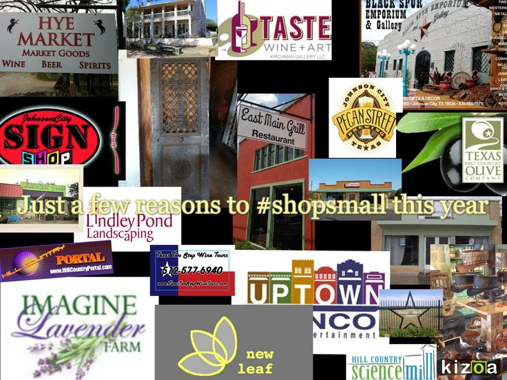 Dozens of reasons to #shoplocal & #shopsmall in Johnson City, Tx