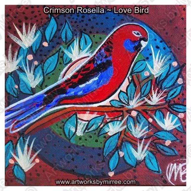 Artworks by Mirree: Crimson Rosella ~ Love Birds