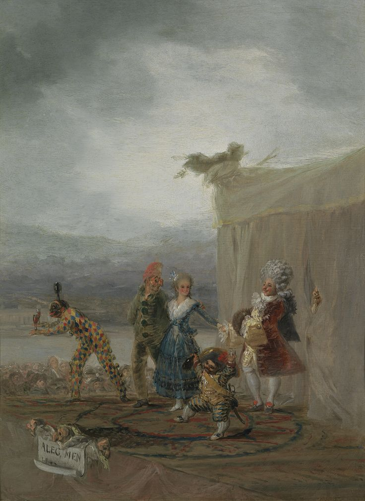 Goya las envió entonces a la Real Academia de San Fernando para obtener el juicio de sus compañeros y según él las había pintado para ocupar la imaginación mortificada en la consideración de mis males, y para resarcir en parte los grandes dispendios que me han ocasionado
