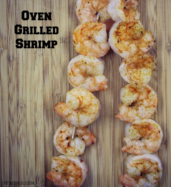 Oven Grilled Shrimp is great for cold or rainy days when you want grilled shrimp, but can't get outside to the grill!