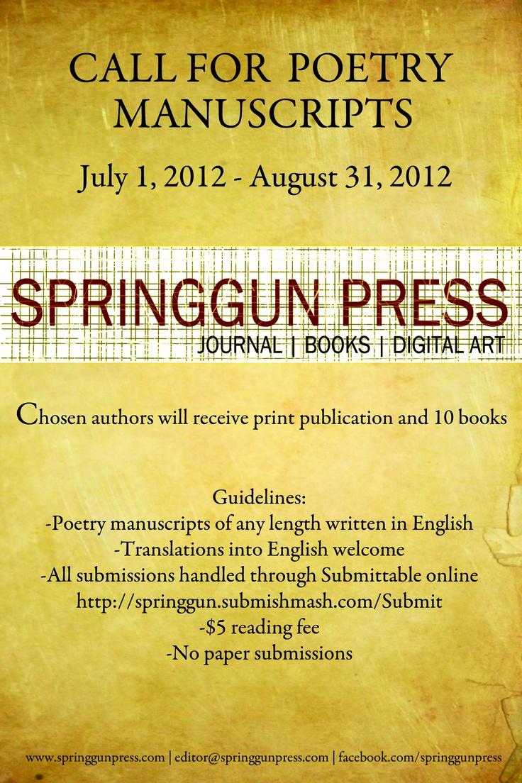 Call for Manuscripts 2012