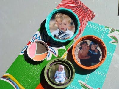 Recycled Lid Photo Magnets!