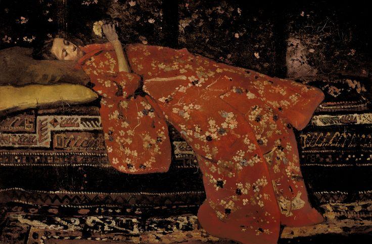 George_Hendrik_Breitner_Girl_in_Red_Kimono_Geesje_Kwak.jpg (6421×4207)