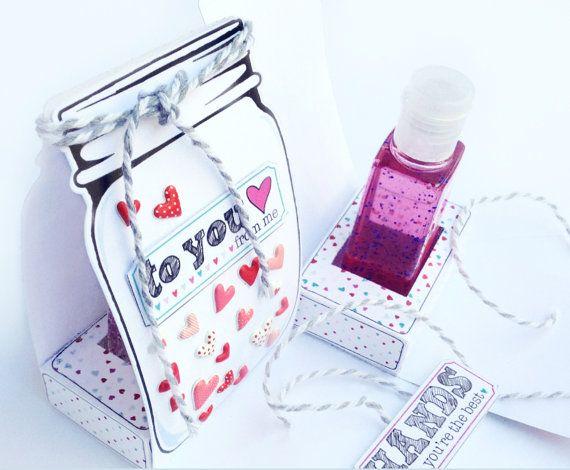 Mason Jar Printable - Mason Jar Hand Sanitizer Holder - PLUS Mason Jar Treat/Gift Card Box - DIY - Printable PDF kit - INSTANT download $7.99