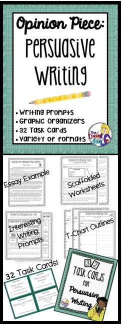 how to teach persuasive writing to 3rd graders