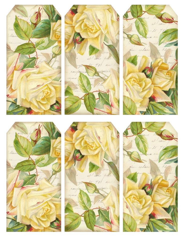 Lilac & Lavender: Vintage Roses Tags