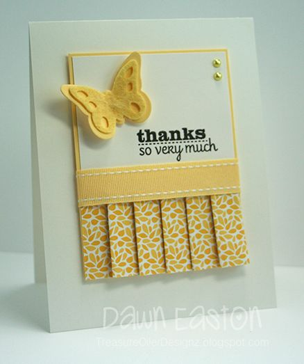 Thanks So Very Much by TreasureOiler - Cards and Paper Crafts at Splitcoaststampers: paper pleating