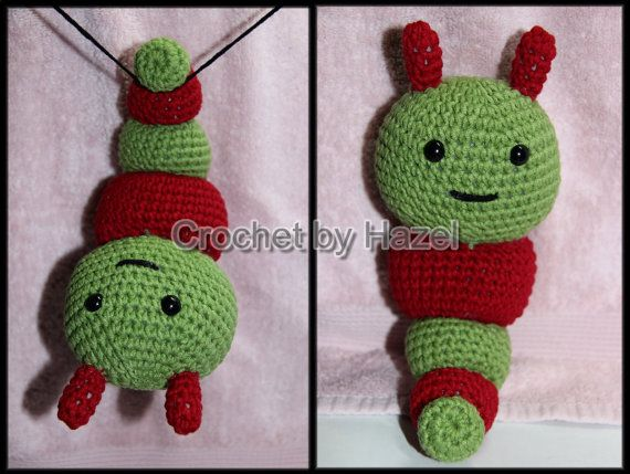 Crochet Caterpillar Rattle by HazelCrochet on Etsy