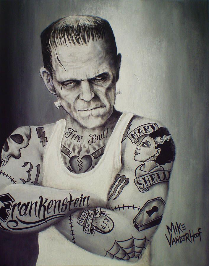 Tattooed Frankenstein By Mike Vanderhoof