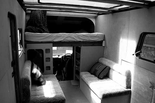 Ford Van conversion (maybe this is what they meantin Cold Comfort Farm ;-))  interior looking forward