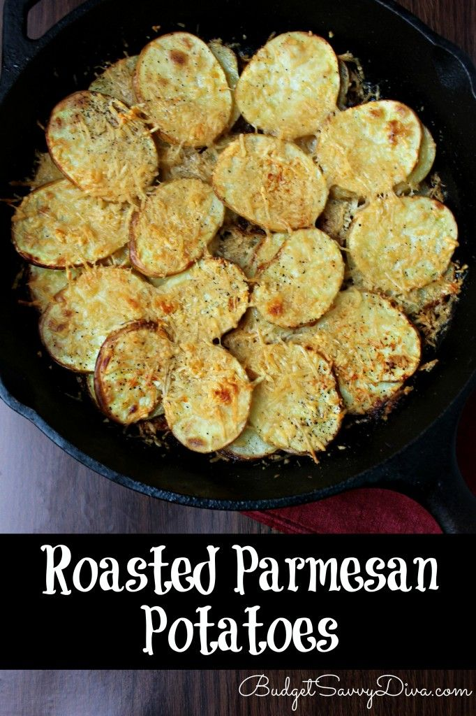 Where are my potato fans? These roasted Parmesan potatoes are a perfect gluten - free side. PURE YUMMMMYYYY!