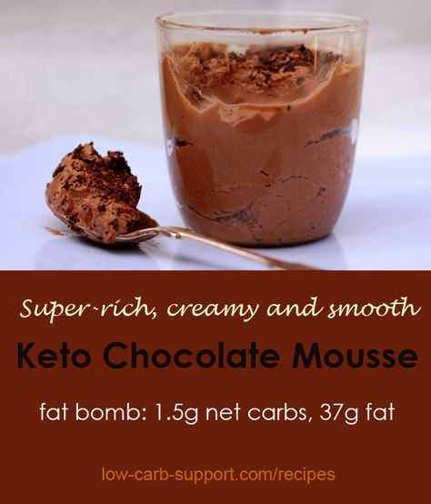 Keto chocolate mousse – Low Carb Diet Support: substitute avocado, Palm shortening, and coconut milk/cream for dairy