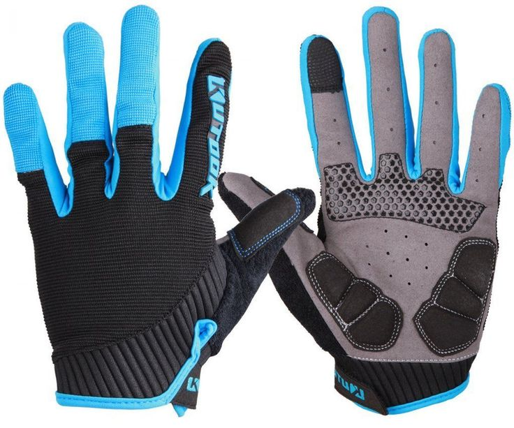 Gel padded full finger cycling gloves blue xxl cycling