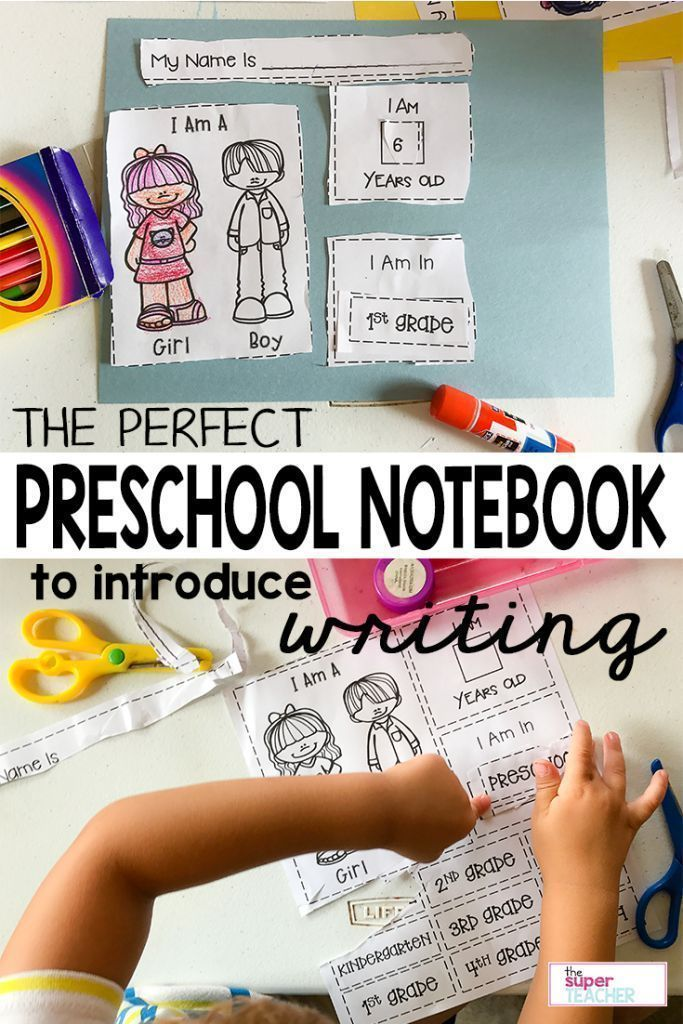 Writing is a skill that kids can start working on in preschool!  This notebook is ALL ABOUT ME! which is perfect for getting preschoolers excited about writing.  This notebook is great for preschool and kindergarten skills.  Your kids will LOVE it!  Find out more about how to use this interactive notebook in this blog post.  Read it now!