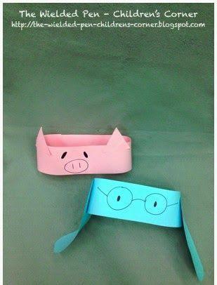 Easy Mo Willems' Elephant & Piggie headband craft