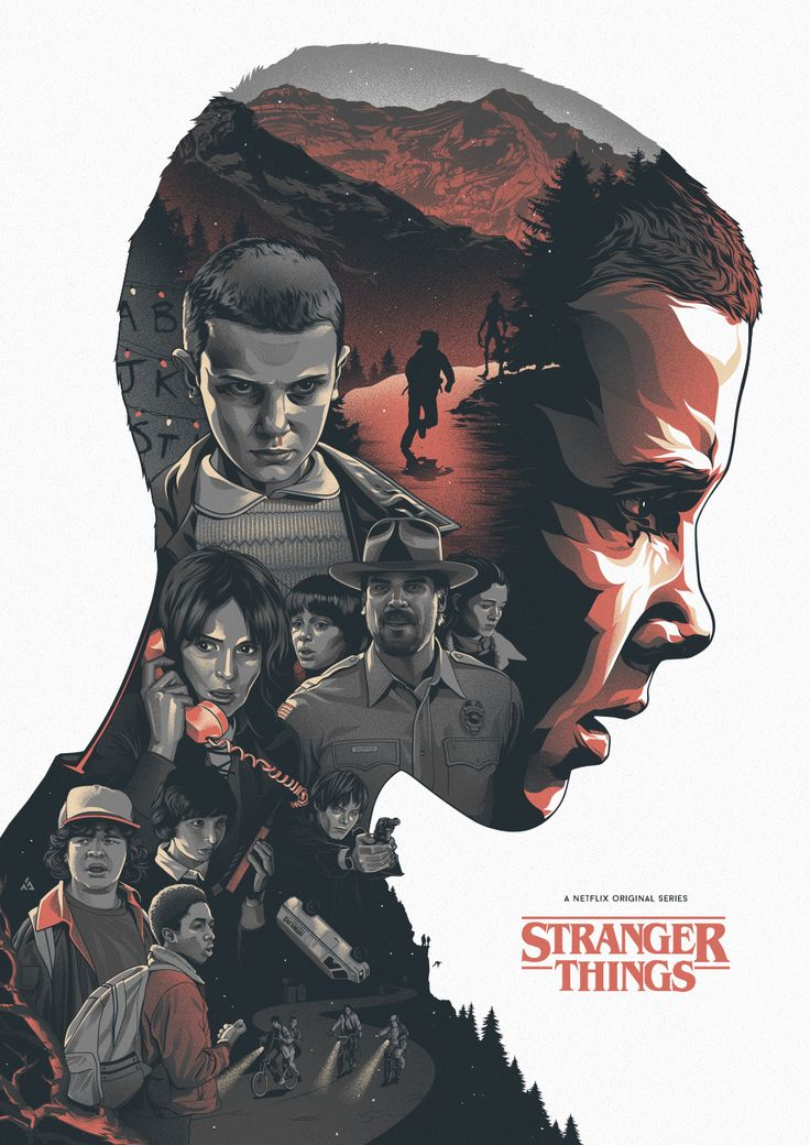 I like this artwork. Eleven is the focus and inside her are all the people she has affected. Her face looks like flames.