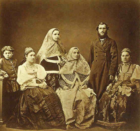 Borowski, peasants, Tula province. 1870. Боровские крестьяне Тульской губ., 1870-е.