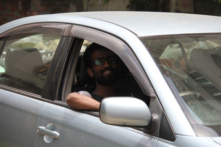 Film Director Borhan Khan Driving a Car