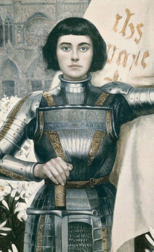 Juana de Arco (Francia), mujer que, vestida de hombre, dirigió el ejército del Delfín de Francia, conquistó Alsacia y Lorena y consiguió el trono para él. Más tarde, cuando dejó de ser de utilidad para el hombre al que sirvió, fue asesinada por aquellos por los que luchó, en un ejemplo más de la deshumanización del ser humano
