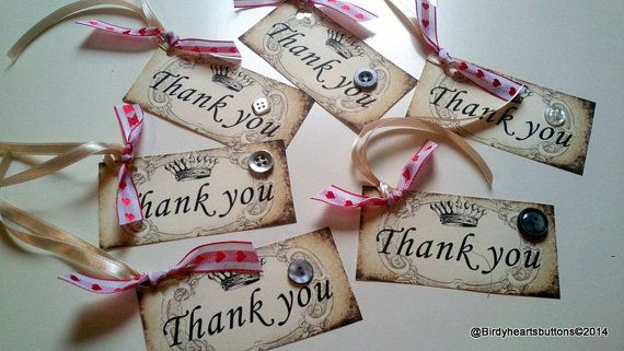 Thankyou gift tags by Birdyheartsbuttons on Etsy, £3.75