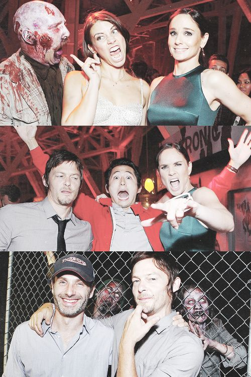 The Walking Dead cast- Lauren Cohan, Sarah Wayne Callies, Norman Reedus, Steven Yeun, Andrew Lincoln