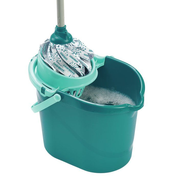Leifheit Classic Mop Set from Leifheit has a flexible mop head of absorbent viscose strips that remove dirt and water in a flash, leaving more time for the finer things in life. This floor cleaning mop set includes a handy 3-gallon (12-litre) bucket with wringer attachment for wringing the mop from standing. This cloth strip-style of mop is ideal for wiping large areas quickly and cleaning corners, stairs and closely around furniture and table legs and cleaning those hard-to-reach corners…