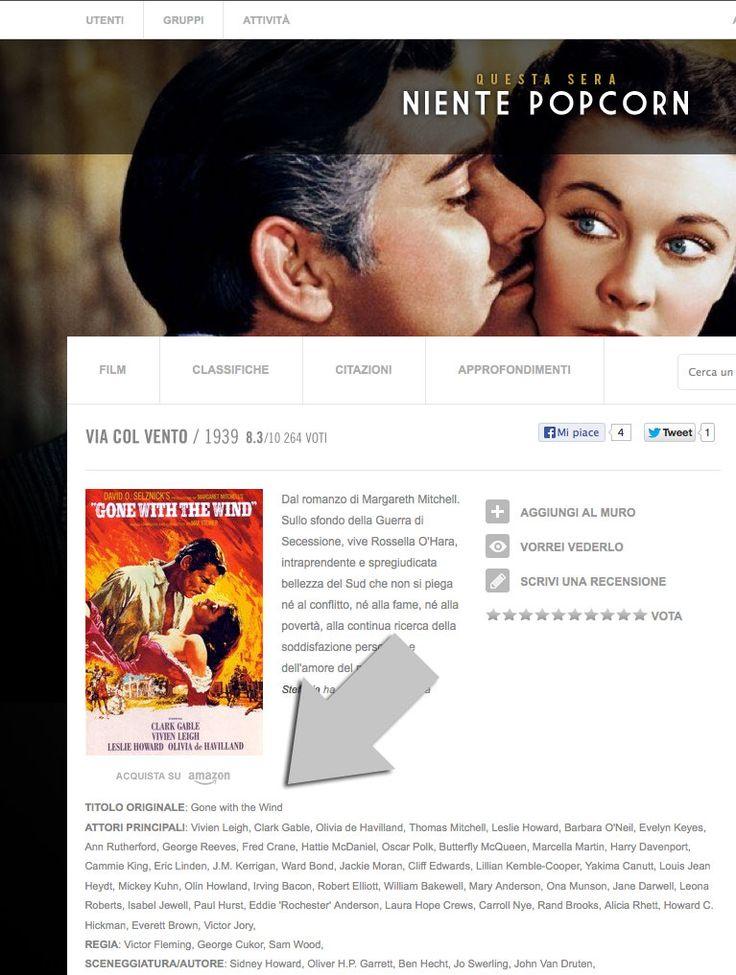 Piccola, ma interessante novità su Nientepopcorn.it: da oggi, nelle schede film, potrete leggere anche i titoli originali dei film stranieri, date un'occhiata!