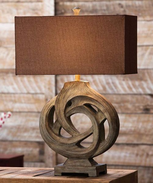 Rustic Table Lamp Infinity Branch